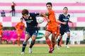 Sisaket thailand september sarayuth chaikamdee of sisaket fc in action during friendly match between and roi et utd at Stock Photos