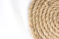 Sisal rope isolated on white background Royalty Free Stock Photos
