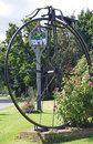 Sissinghurst, penny farthing sculpture and village sign Royalty Free Stock Photo