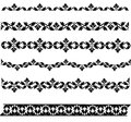 Sistema de fronteras negras Imagenes de archivo