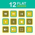 Sistema del icono de media player Imagen de archivo