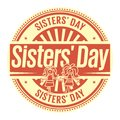 Sisters Day rubber stamp Royalty Free Stock Photo