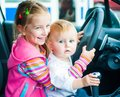 image photo : Sisters while driving