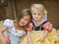 Sisters Together, Halloween Royalty Free Stock Images