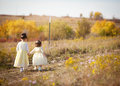 Sisters walking Royalty Free Stock Photo