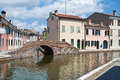Sisti Bridge. Comacchio. Emilia-Romagna. Italy. Stock Photos