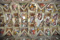 Sistine Chapel Ceiling - landmark attraction in Vatican State Royalty Free Stock Photo