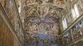 The sistine chapel michelangelo fresco in vatican Stock Photography