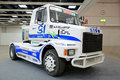 Sisu Rally Truck on Display at Logistics Transport 2015 Royalty Free Stock Photo