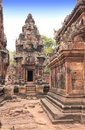 Site of banteay srei temple in angkor wat complex siem reap ca pink famous landmark khmer culture cambodia unesco world Royalty Free Stock Images