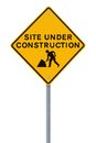 Site en construction (sur le blanc) Image stock
