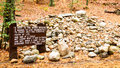 Site of Henry David Thoreau's cabin on Walden Pond Royalty Free Stock Photo