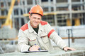Site manager at construction area Royalty Free Stock Image