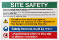 Site safety sign Stock Photo