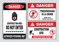Site safety sign or construction safety Royalty Free Stock Photo