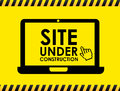 Site under construction over yellow background vector illustration Royalty Free Stock Image