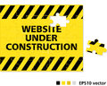 Site Web en construction Image libre de droits