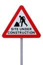 Sitio bajo construcción (con el camino del clippng) Fotos de archivo