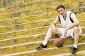 Sitting basketball player Royalty Free Stock Photo