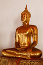 Sitting Buddha statue close up, Thailand Royalty Free Stock Photo