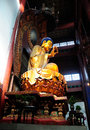 Sitting Buddha Statue Lingyin Temple Royalty Free Stock Photo