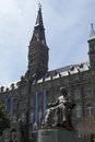 Sitting in front of georgetown university was founded by john carrol Royalty Free Stock Photos