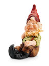 Sitting gnome isolated with clipping path Stock Photography