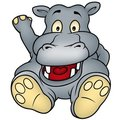 Sitting Hippo Royalty Free Stock Image