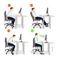 Sitting posture set. Royalty Free Stock Photo