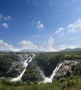 Sivasamudram waterfall, river cauvery near mysore Royalty Free Stock Image
