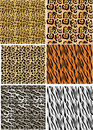 Six animal skins collection Royalty Free Stock Photography