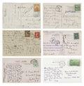 Six antique handwritten Postcards