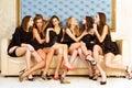 Six beautiful women Royalty Free Stock Photo