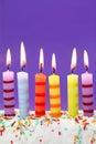Six birthday candles Royalty Free Stock Photo