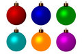 Six christmas balls Royalty Free Stock Image