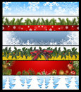 Six Christmas banners 14 Royalty Free Stock Images