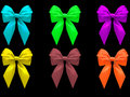 Six colorful bows Royalty Free Stock Image
