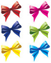Six colorful bows Royalty Free Stock Photos