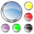 Six colorful glassy buttons Royalty Free Stock Photo