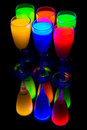 Six colour goblets Stock Image