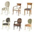 Six drape chairs Royalty Free Stock Photo