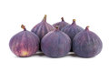 Six figs isolated on white Royalty Free Stock Photography