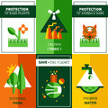 Six Flat Ecology Posters Set