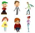 Six funny characters