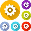 Six gear icons