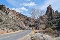 Six mile canyon road from virginia city nevada Stock Photos