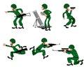 Six military man