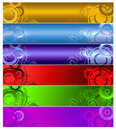 Six multi-coloured  banners Stock Photo
