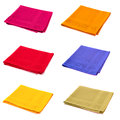 Six napkins multicolored isolated on white Stock Photo