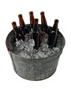 Six Pack of Beer in Ice Bucket Royalty Free Stock Photo